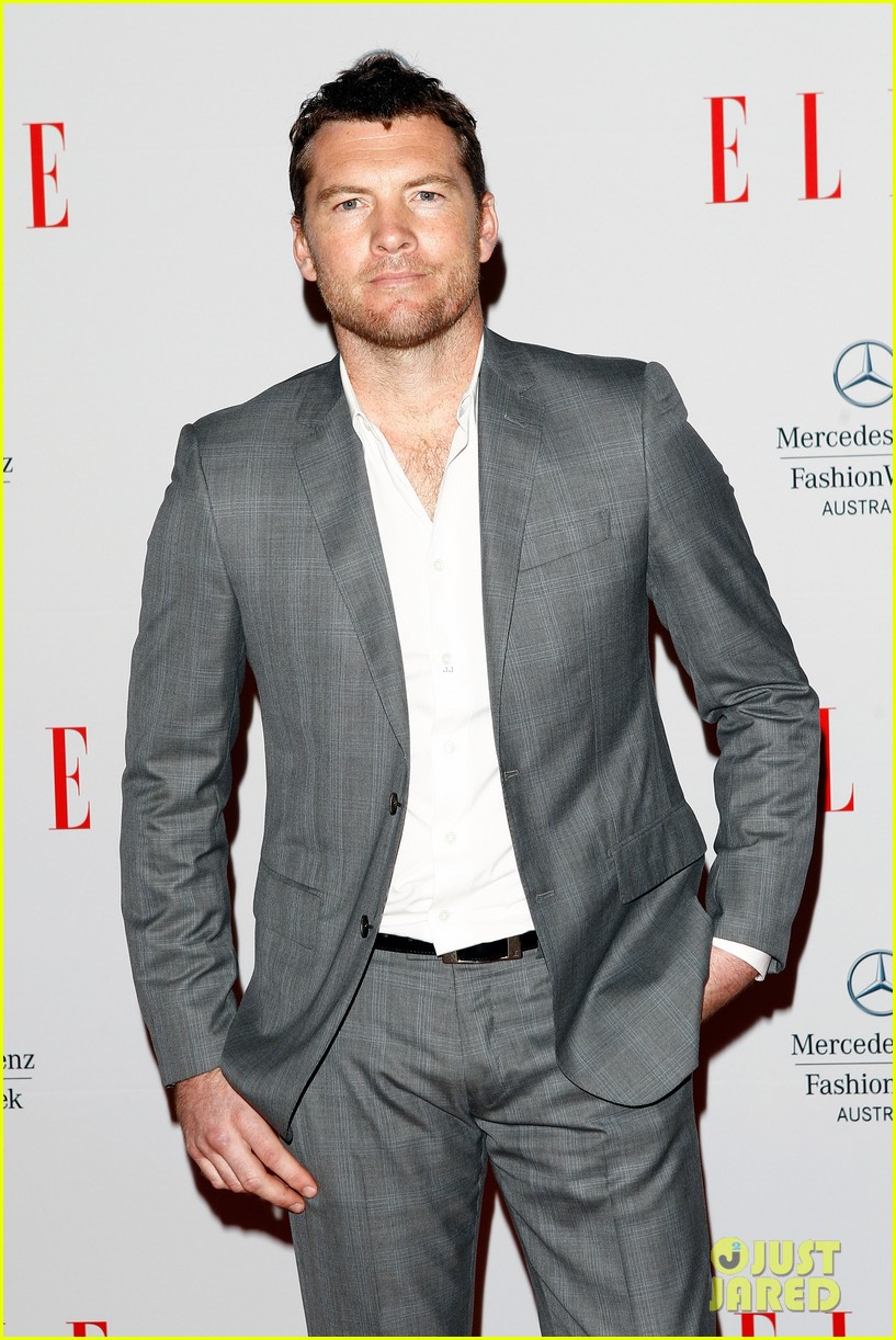 sam worthington hello elle australia fashion show 04