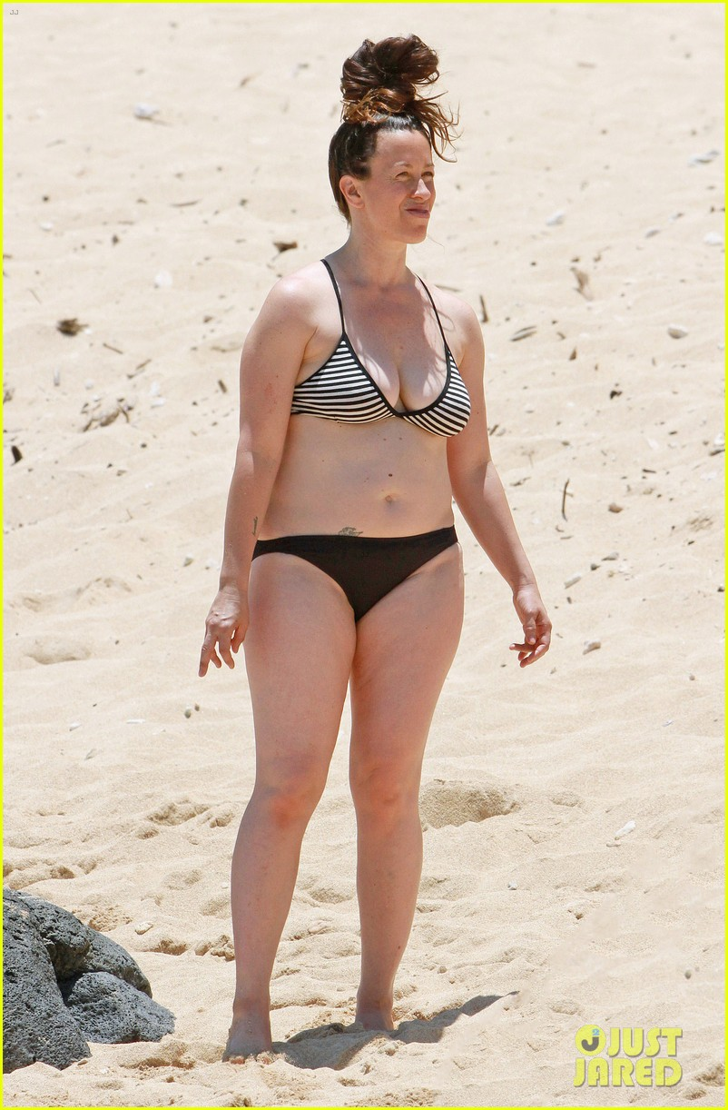 alanis morissette bikini beach vacation with ever 10
