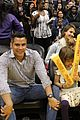 jessica alba cash warren attend la sparks game with the kids 02