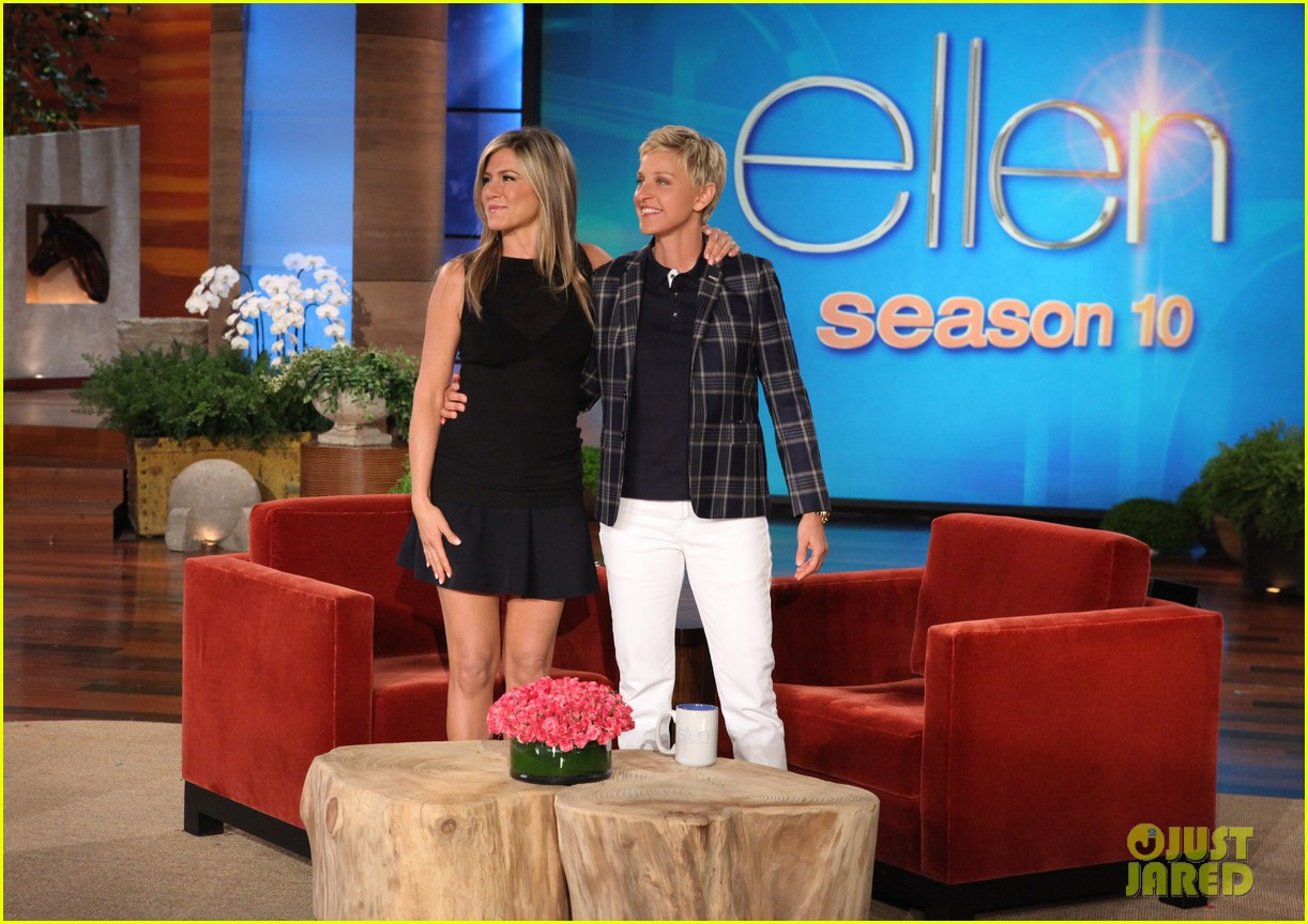 jennifer aniston wears maids outfit talks friends reunion on ellen 052876172
