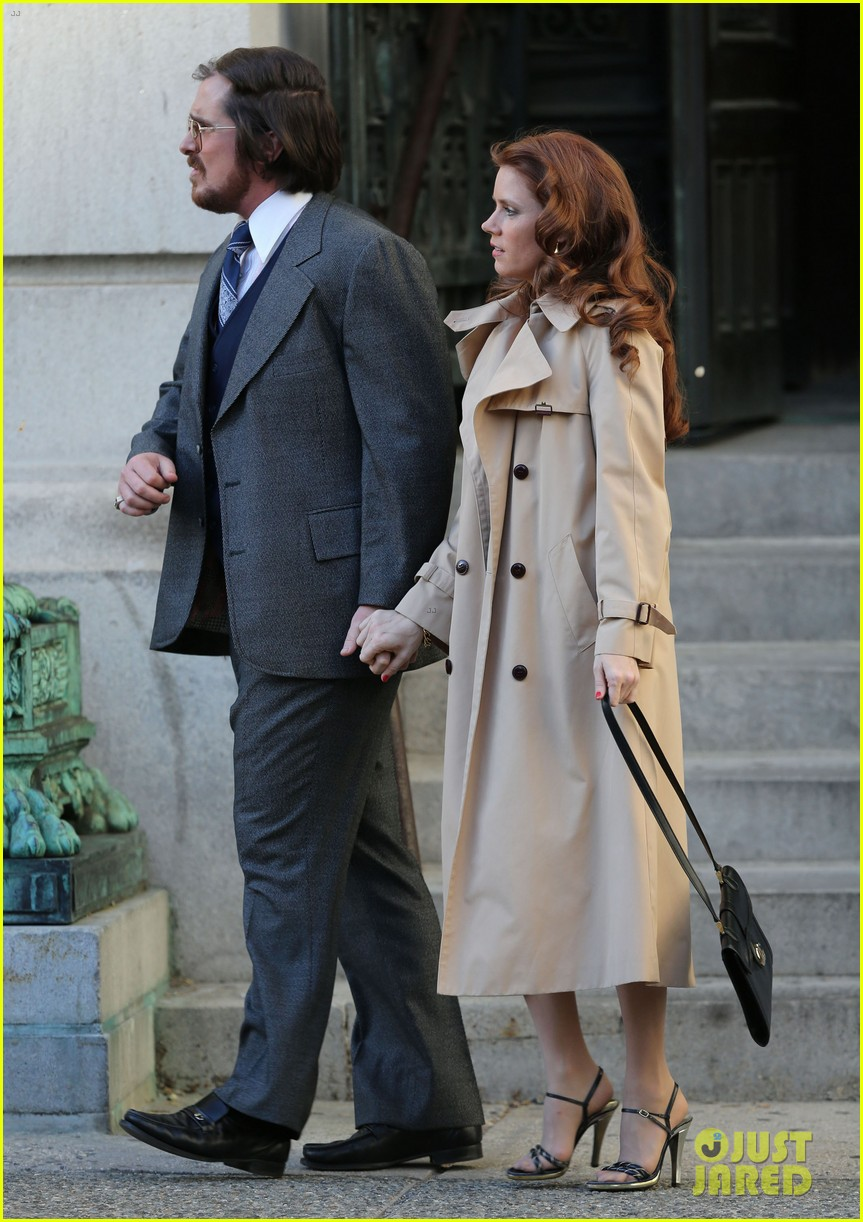 christian bale amy adams dance hold hands on set 13