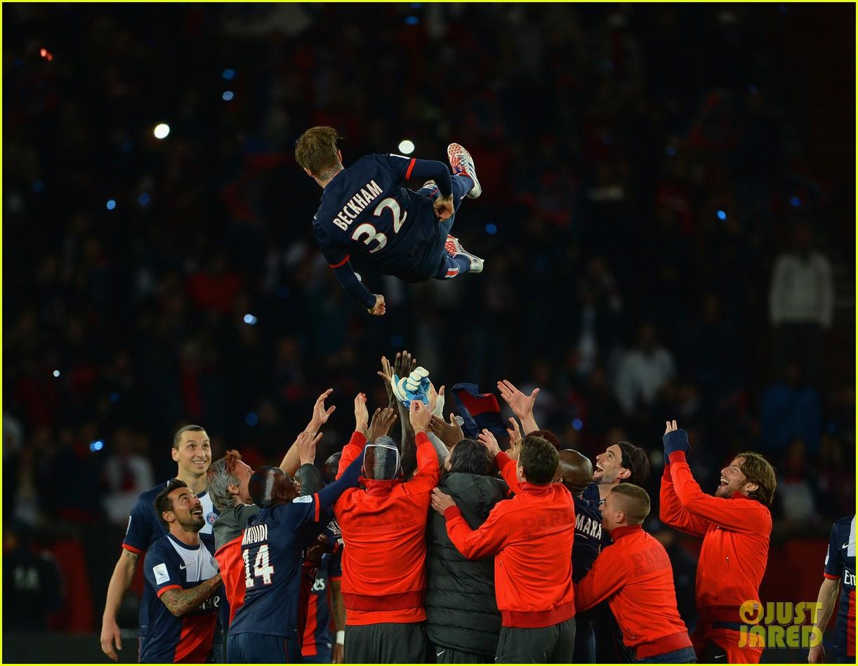 david beckham celebrates final soccer game with family 12