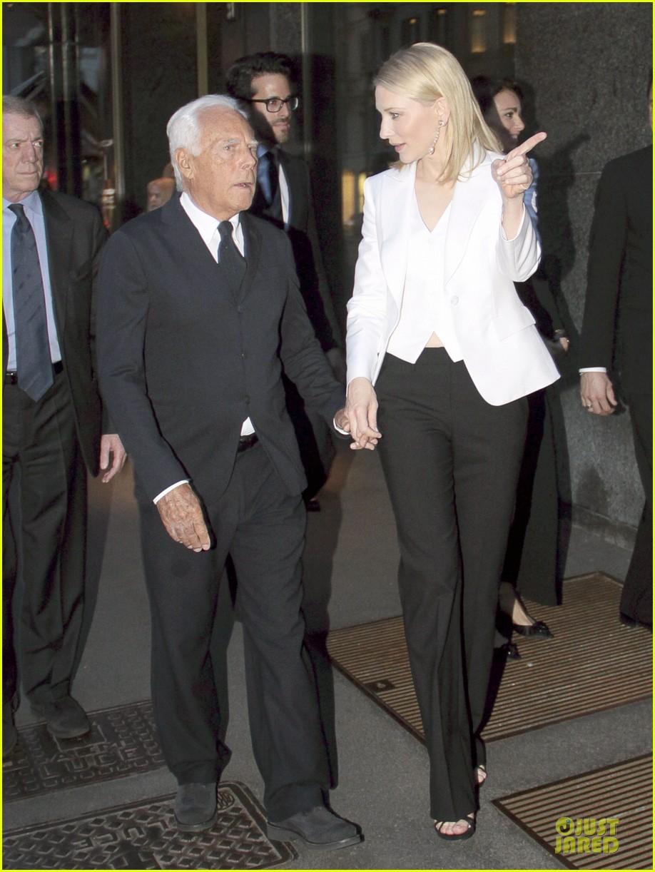 cate blanchett giorgio armani hold hands in milan 09