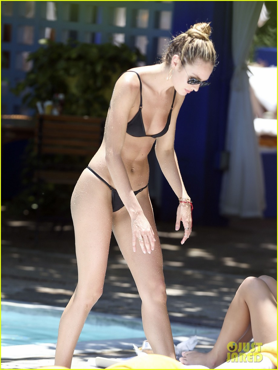 candice swanepoel poolside bikini babe  with hermann nicoli 16