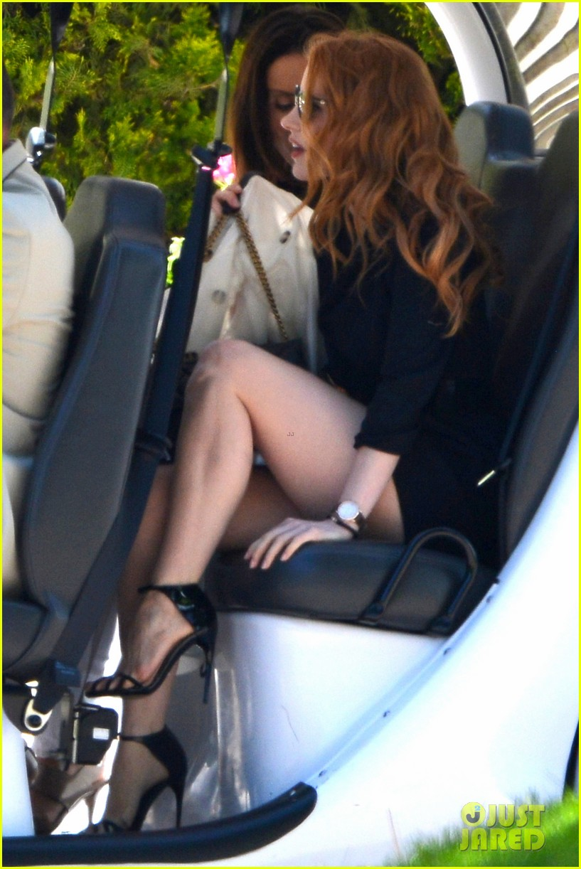 jessica chastain bares legs for days in cannes 022874807