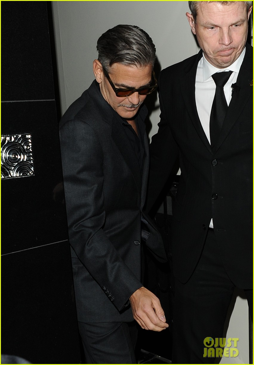 george clooney dines in london stacy keibler hits grand prix 08
