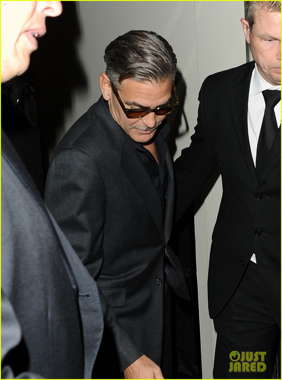 george clooney dines in london stacy keibler hits grand prix 09