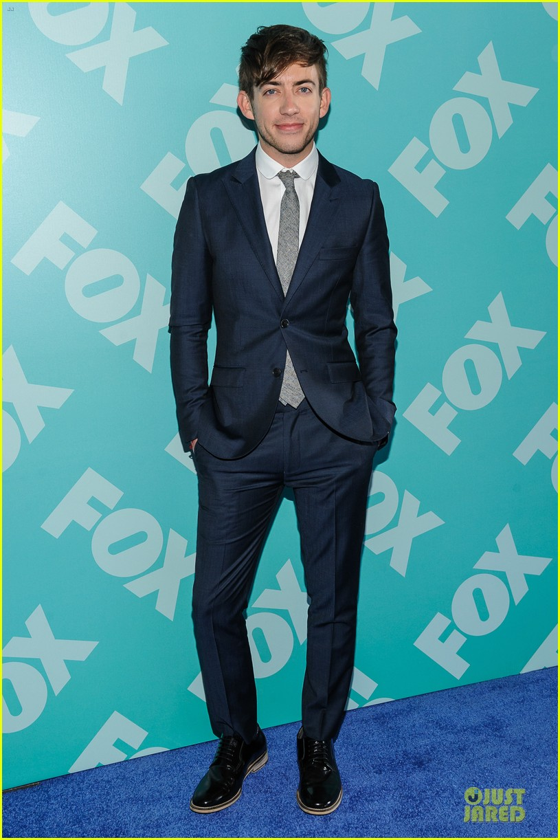 jenna ushkowitz chris colfer fox upfront presentation with glee cast 132869957