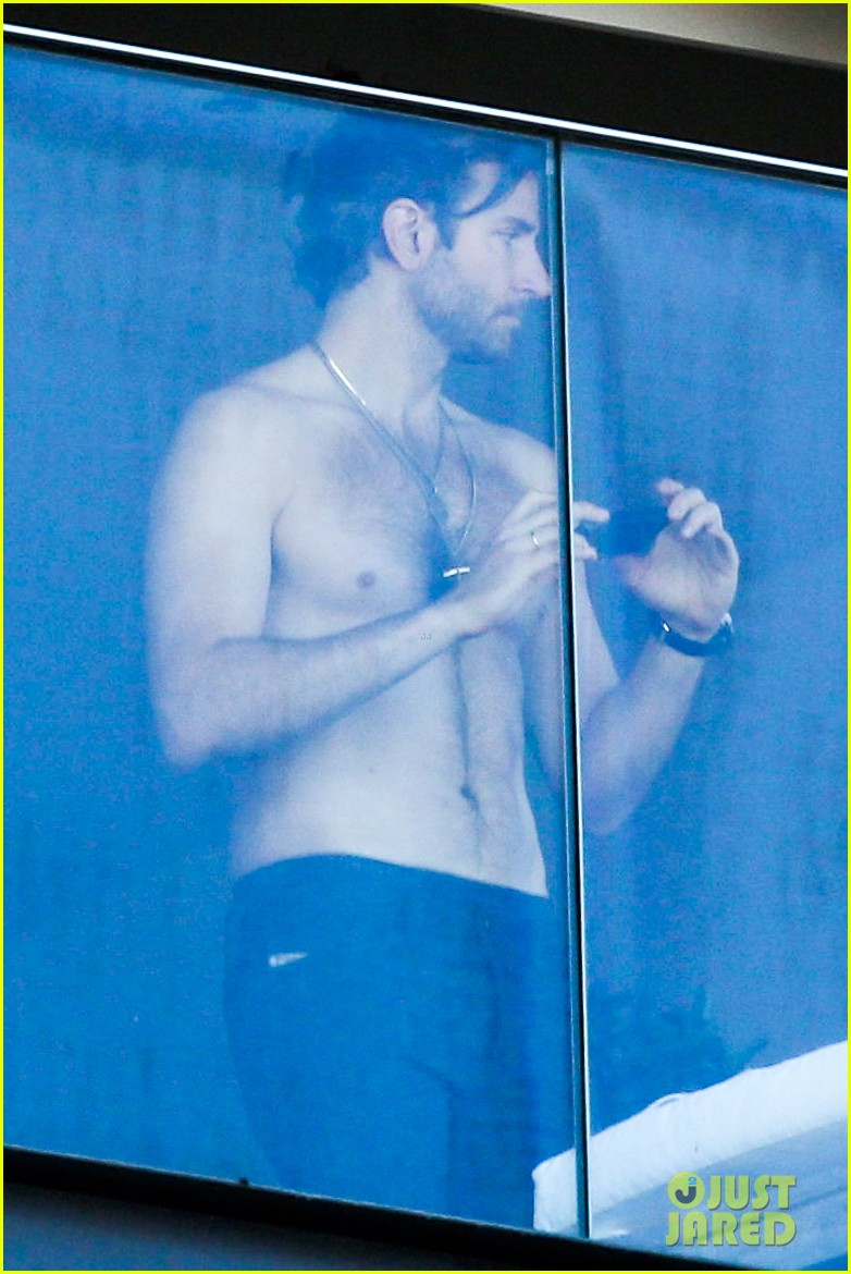bradley cooper shirtless after brazil arrival with hangover guys 02