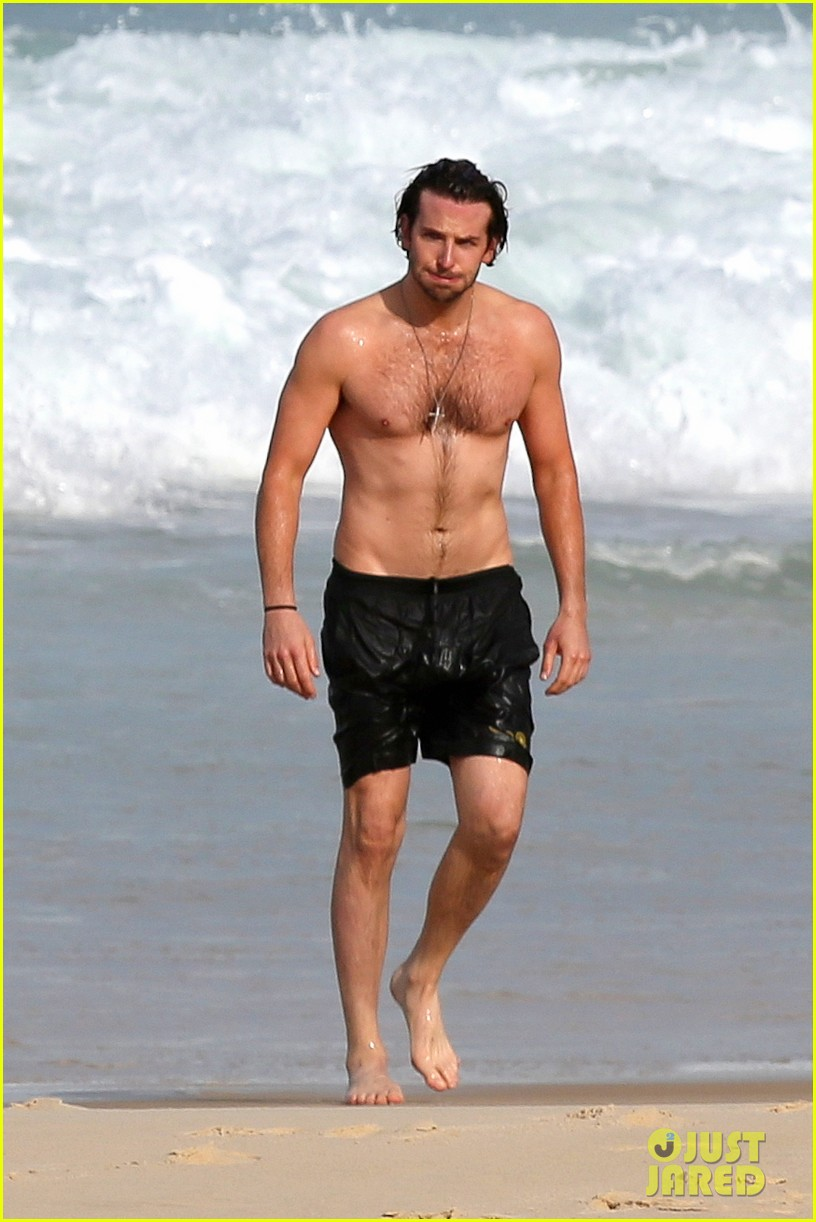 bradley cooper premieres hangover in rio swims shirtless 01