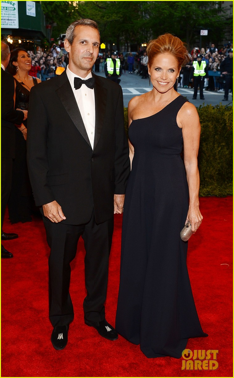 katie couric met ball 2013 red carpet with john molner 01