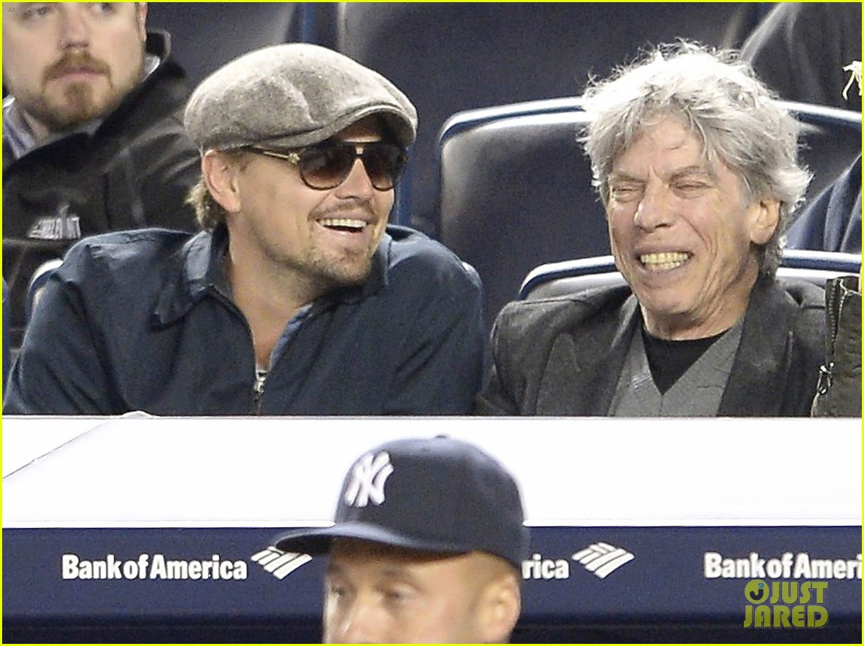 leonardo dicaprio yankees game dugout dude 10