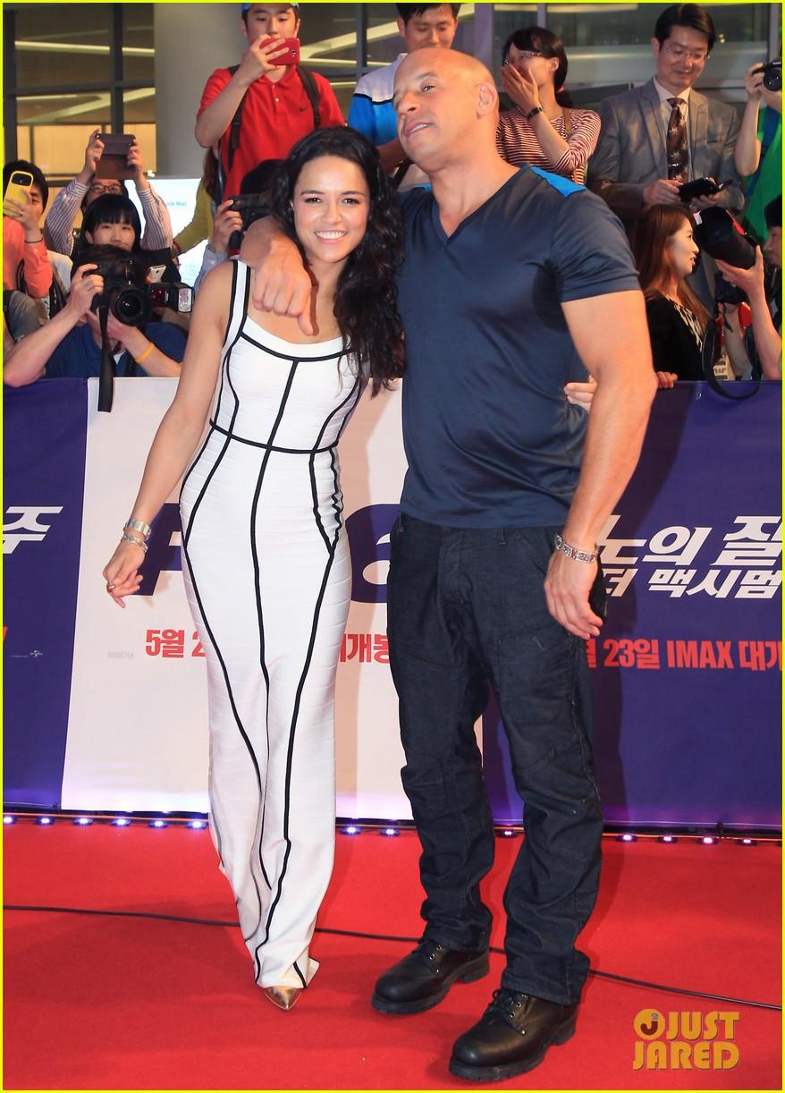 Vin Diesel & Michelle Rodriguez: 'Fast & Furious 6' Seoul Premiere!