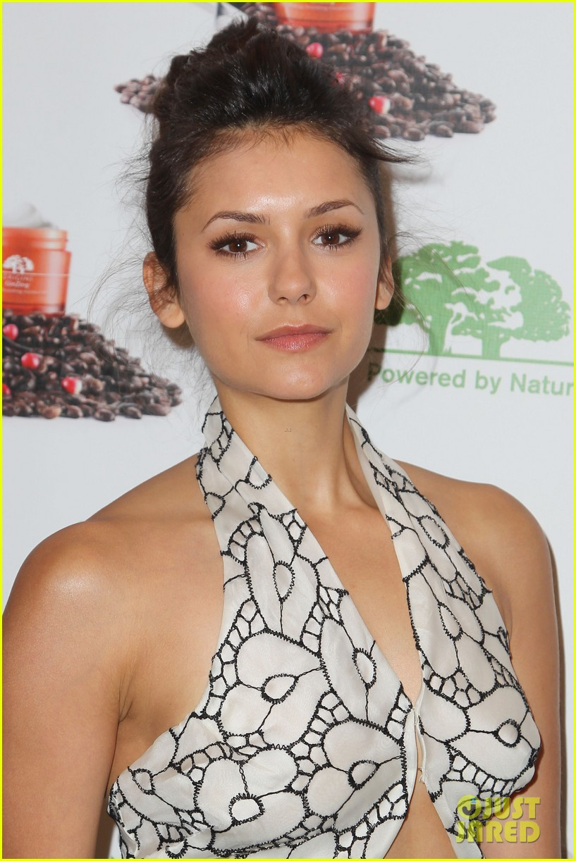 nina dobrev new origins ginzing moisturizer launch 042862992
