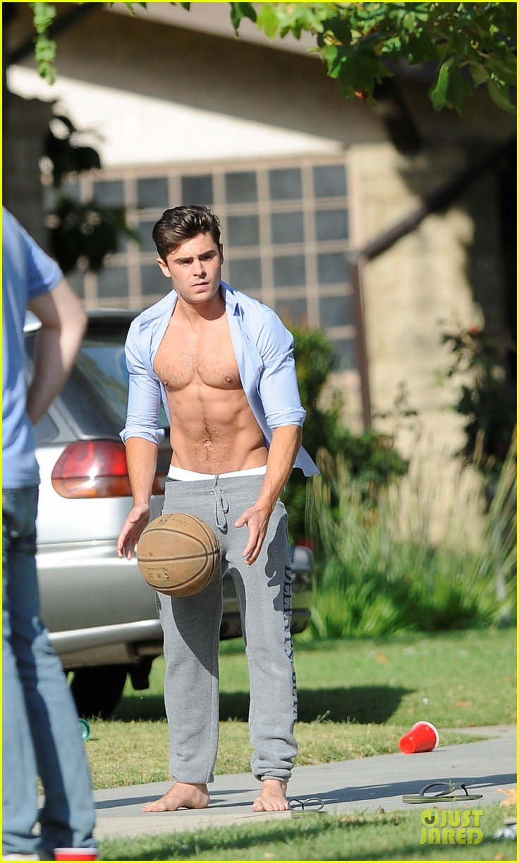 zac efron abs flashing townies basketball set 07