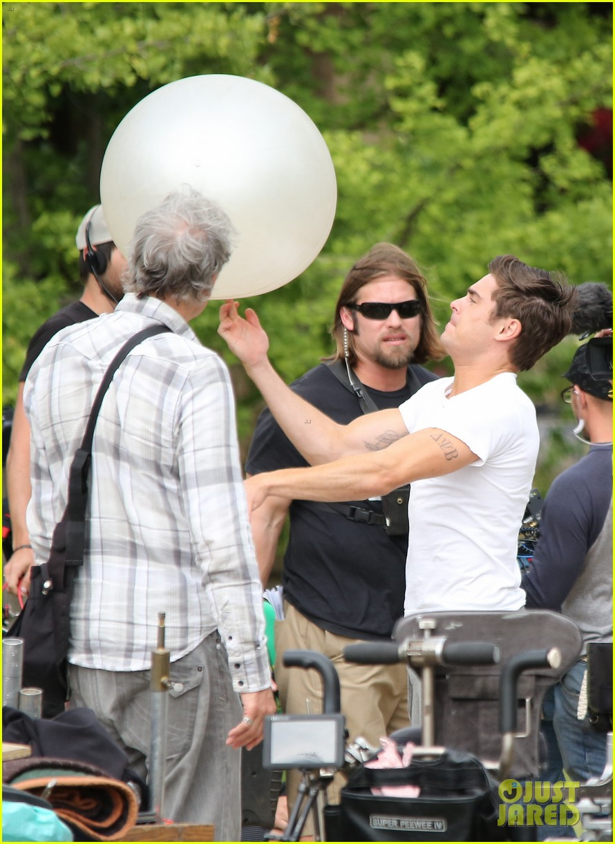zac efron sweats it out with dave franco on townies set 04