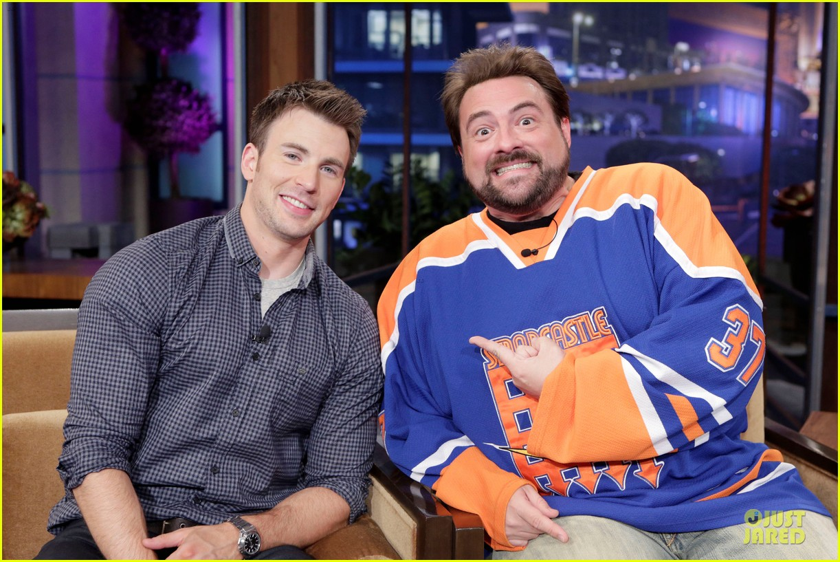 chris evans jay leno appearance with kevin smith 02
