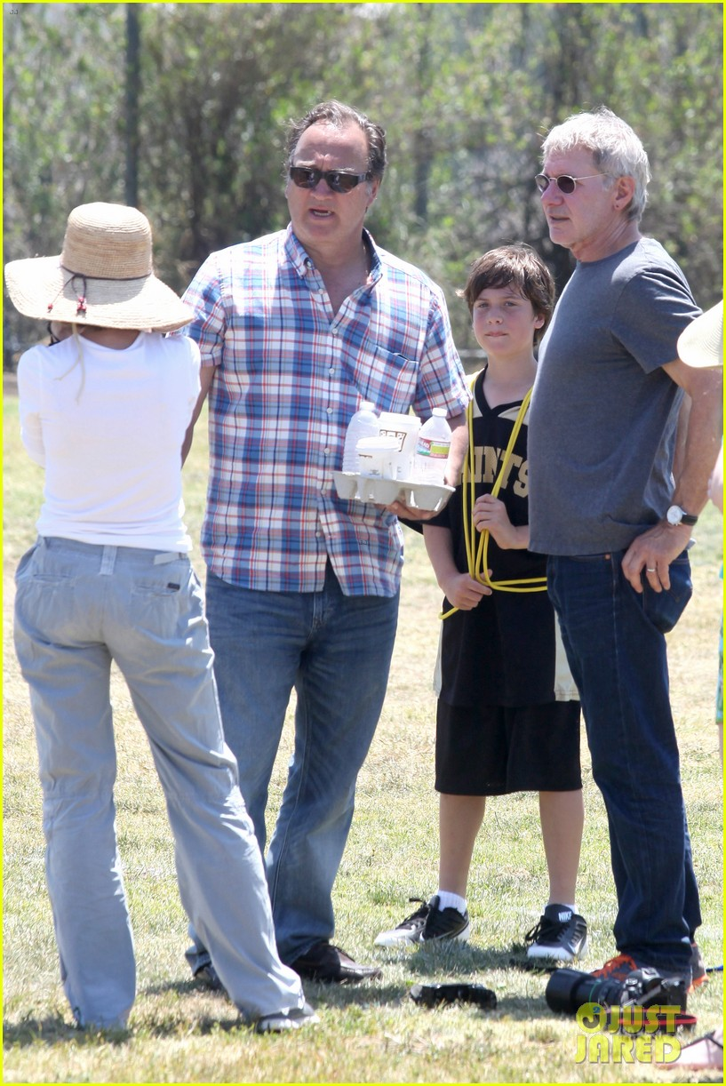harrison ford calista flockhart liam soccer game 162868795