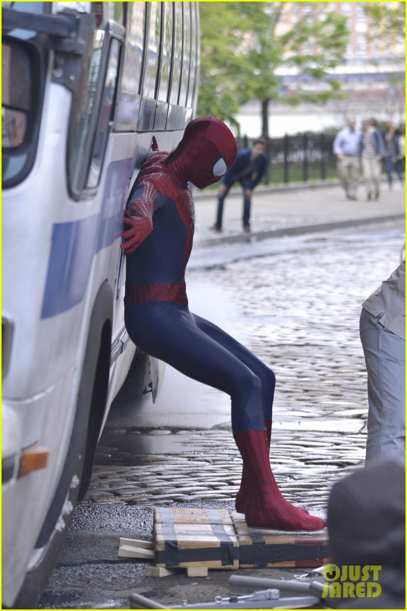 andrew garfield paul giamatti spider man 2 stunt scenes 09