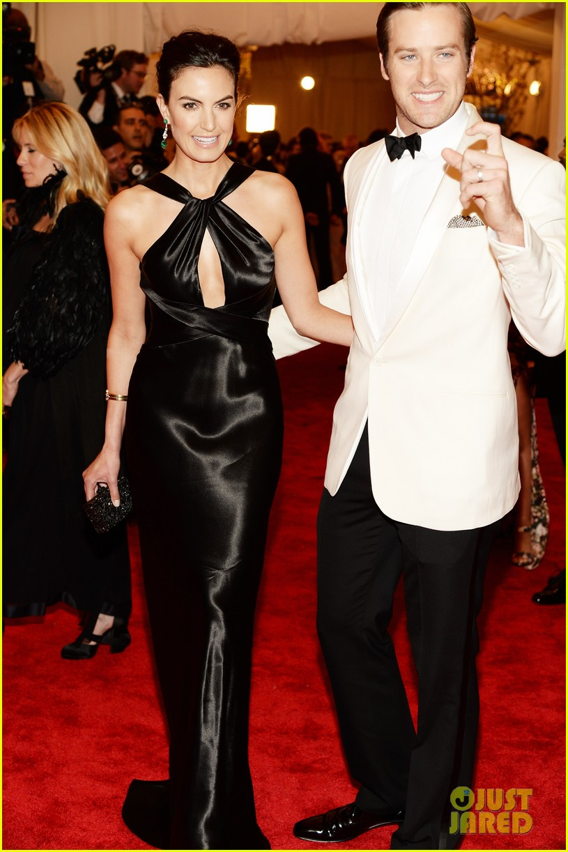armie hammer met ball 2013 red carpet with elizabeth chambers 01