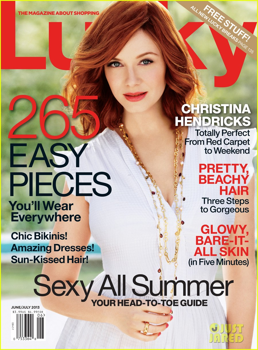 christina hendricks covers lucky june july 2013 01