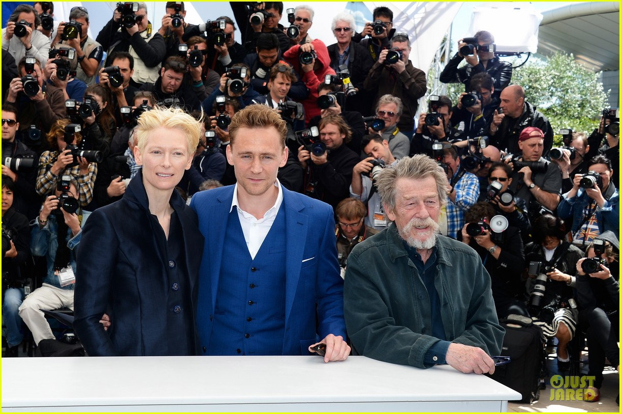 tom hiddleston tilda swinton only lovers left alive cannes photo call 042877850