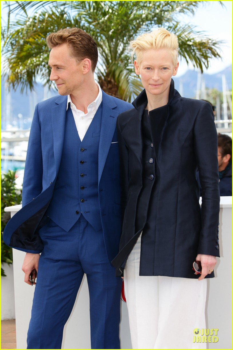 tom hiddleston tilda swinton only lovers left alive cannes photo call 08