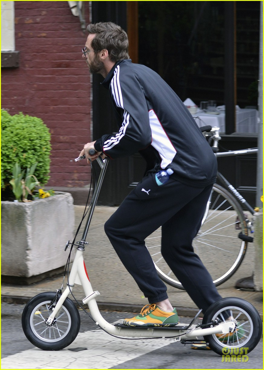 hugh jackman big apple scooter rider 07