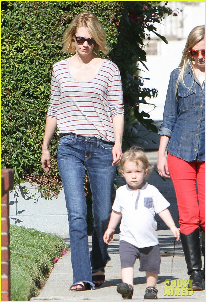 january jones xander walks in front of mommy 252869219
