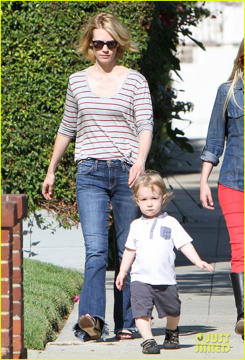 january jones xander walks in front of mommy 262869220