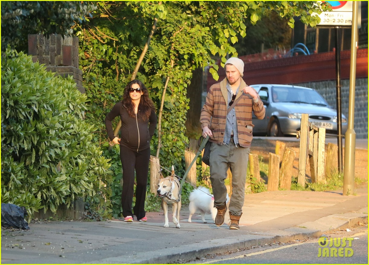 channing tatum jenna dewan take a dog walk following vet visit 072879106