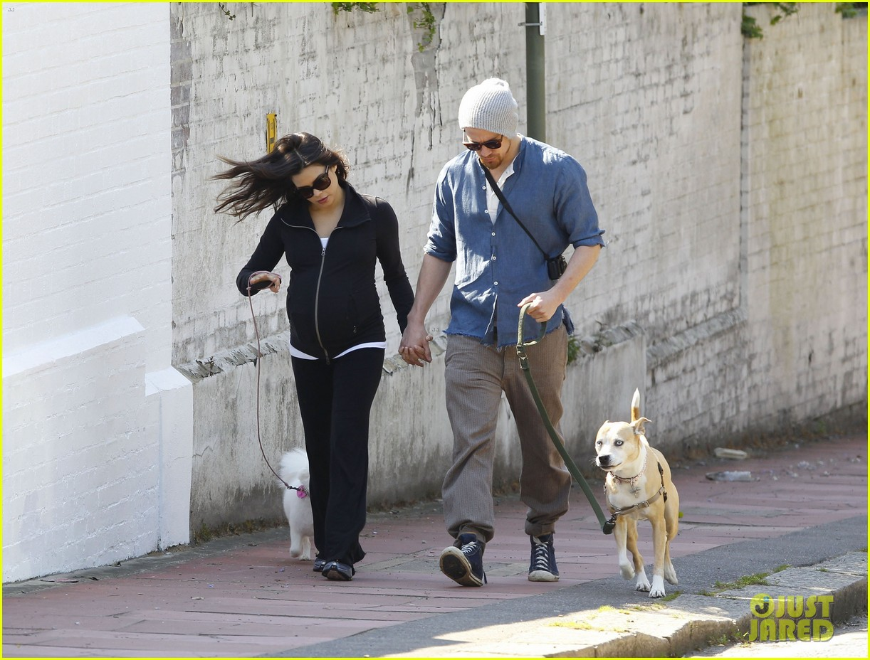 channing tatum jenna dewan take a dog walk following vet visit 16