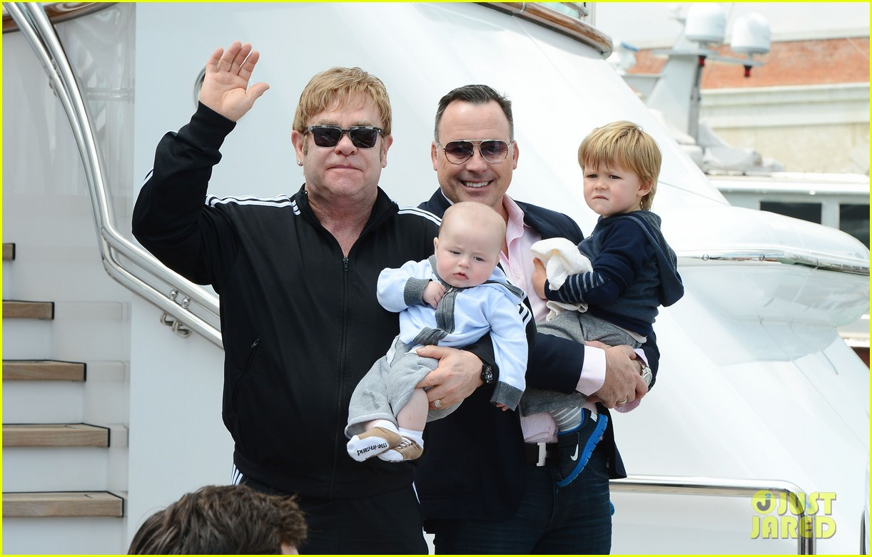 elton john david furniss family trip with zachary elijah 172879978