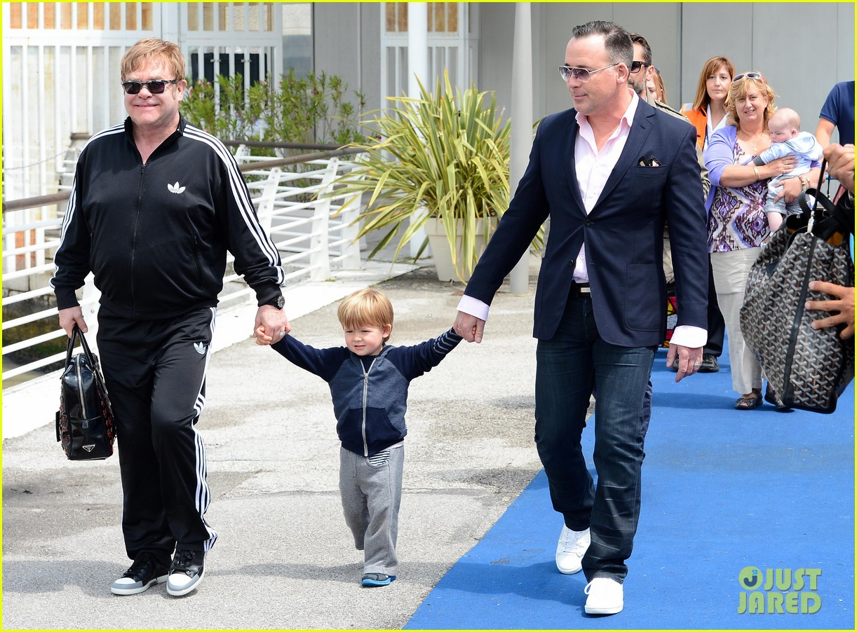elton john david furniss family trip with zachary elijah 182879979