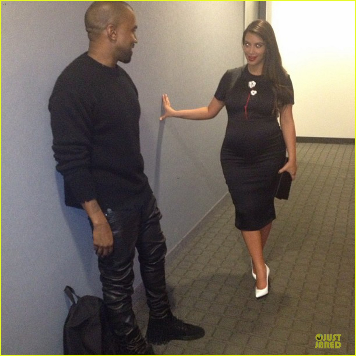 kim kardashian pregnant dinner date with kanye west 022864563