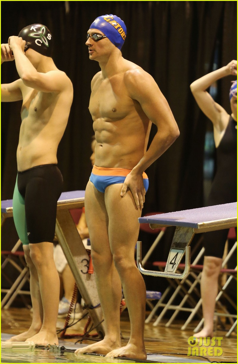 ryan lochte shirtless speedo stud for mel zajac jr meet 18
