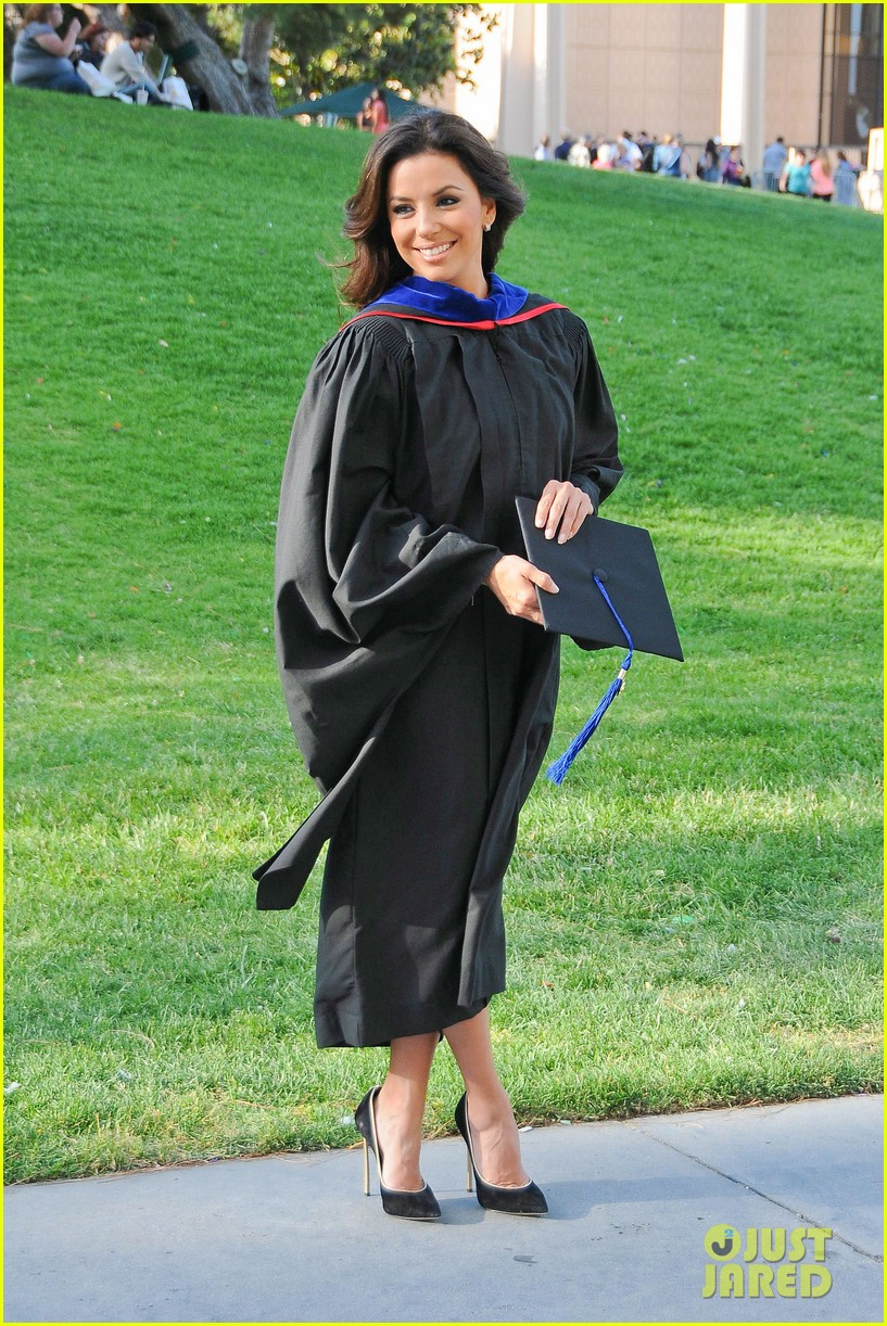 eva longoria graduates with a masters degree from csu 25