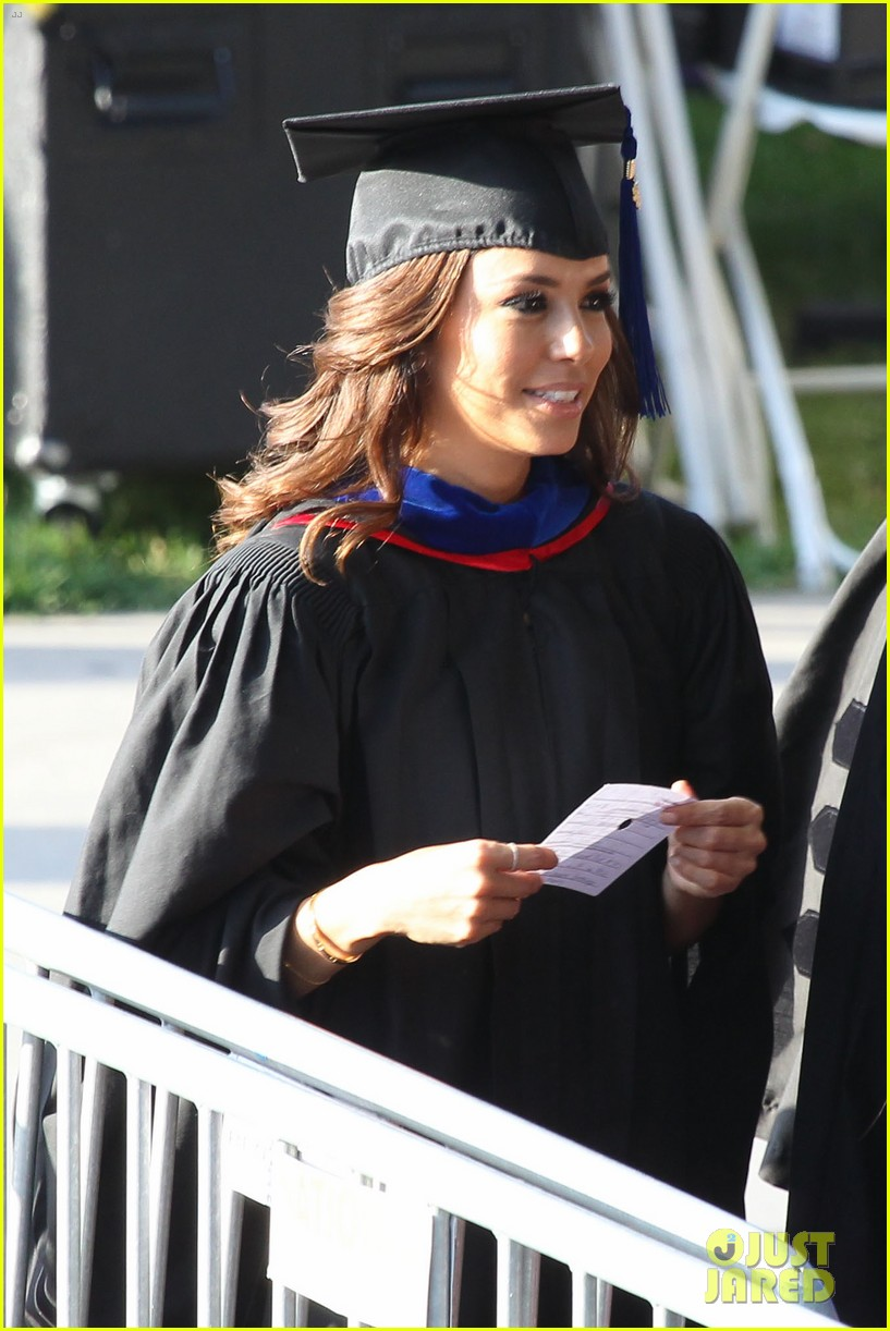 eva longoria graduates with a masters degree from csu 28