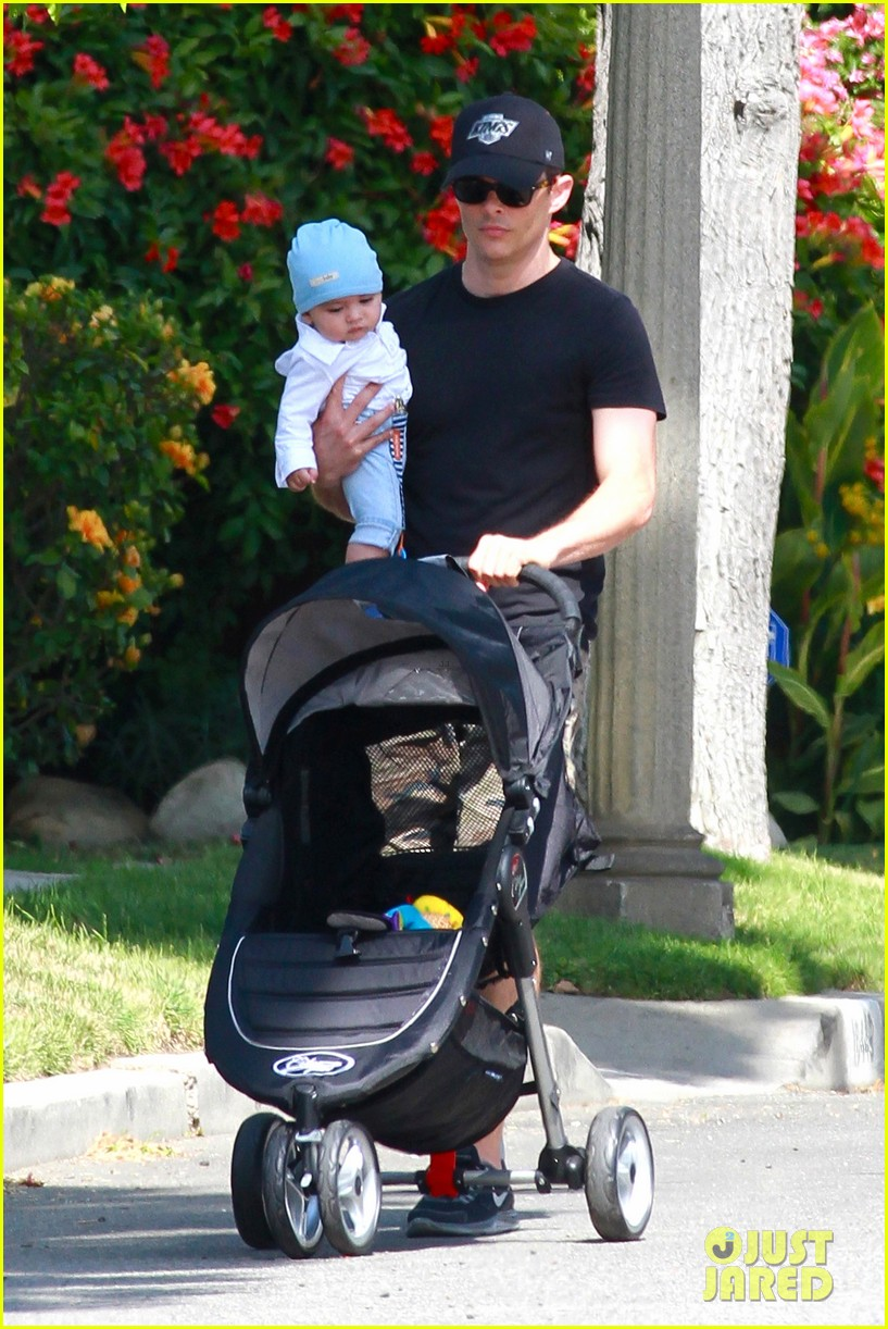 james marsden walks with son william luca 08
