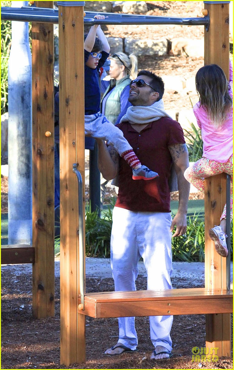 ricky martin bronte park with the twins 16
