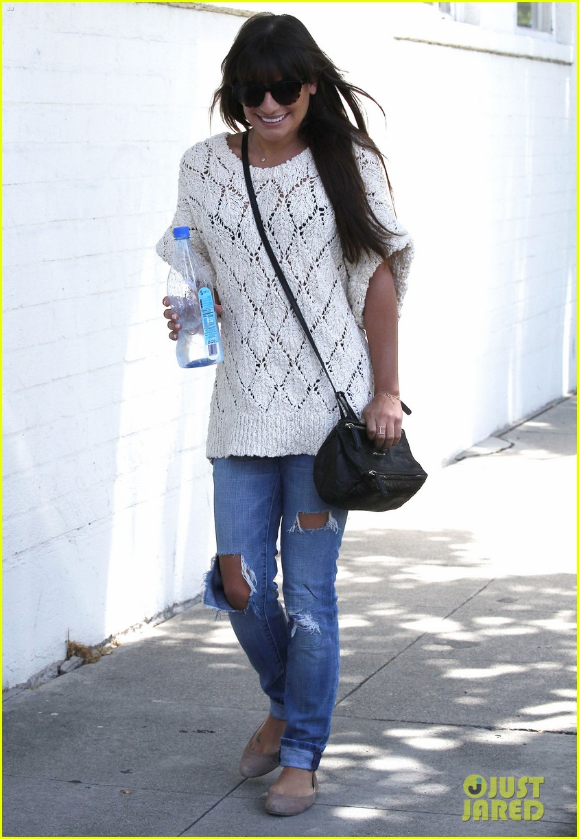lea michele visits dentist after date night with cory monteith 03