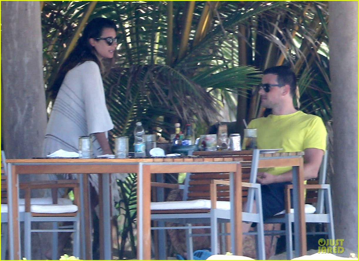 lea michele cory monteith beach lunch in mexico 16