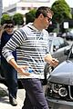 lea michele sheer grocery run cory monteith striped office meeting 11