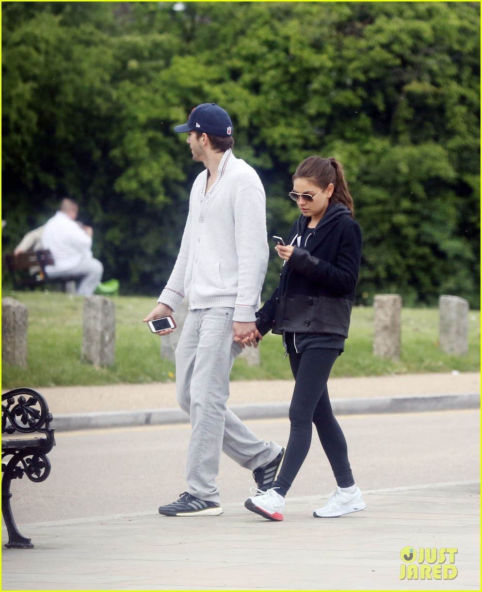 mila kunis ashton kutcher hold hands on london stroll 042873622