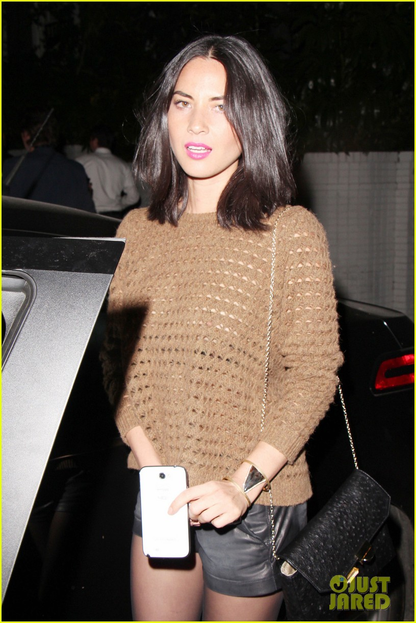 olivia munn sheer knit top at chateau marmont 04