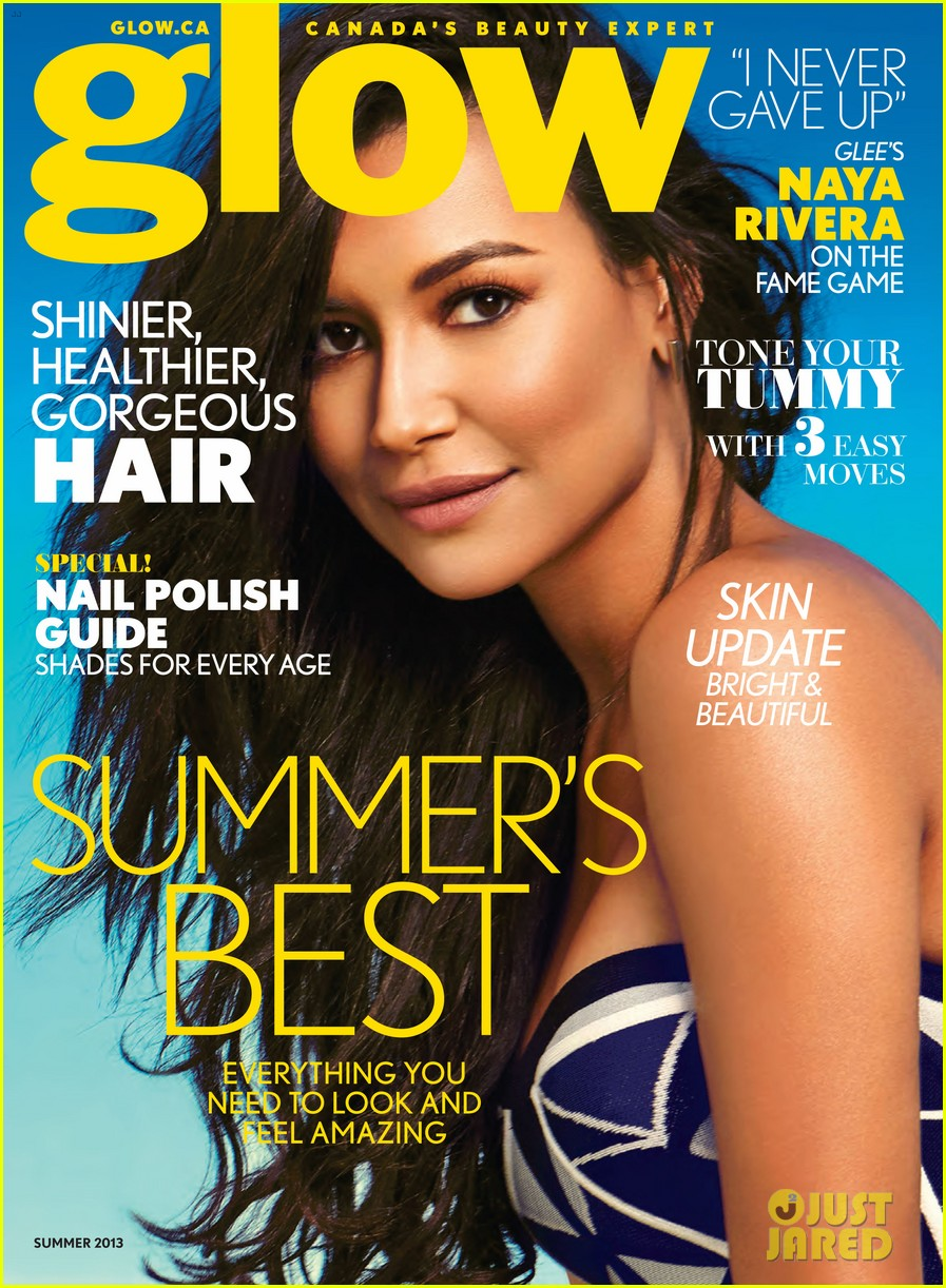 naya rivera glow summer 2013 cover girl 032880666