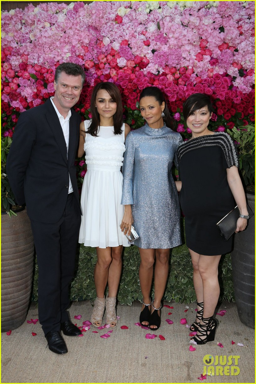 thandie newton samantha barks jimmy choo dinner 06