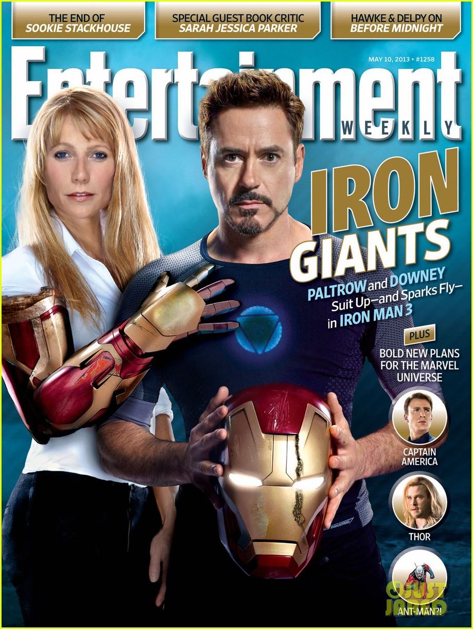 gwyneth paltrow robert downey jr cover ew iron giants issue 01
