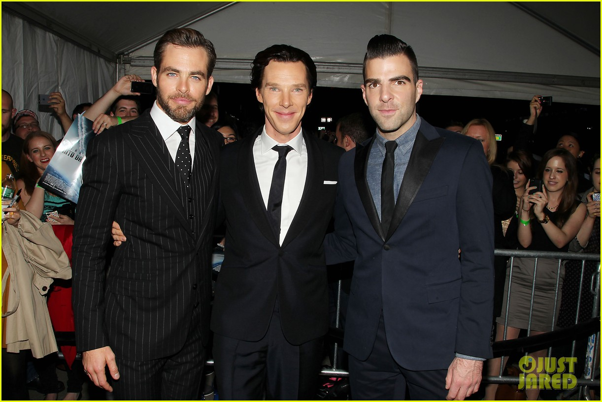 chris pine benedict cumberbatch star trek nyc screening 272867522