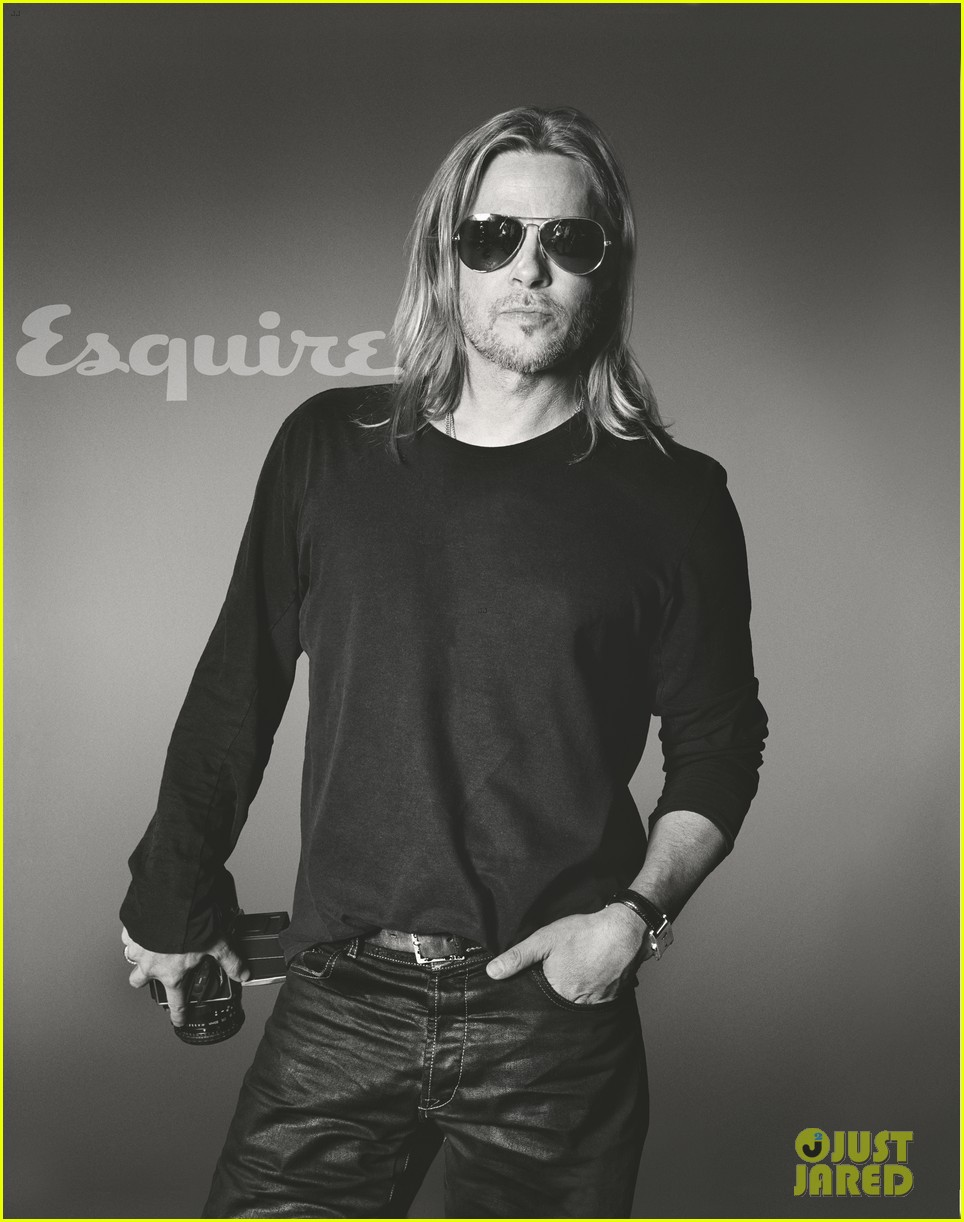 brad pitt to esquire i havent known life to be any happier 06